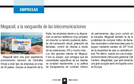 Megacall, a la vanguardia de las telecomunicaciones