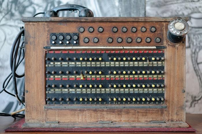 manual telephone switchboard